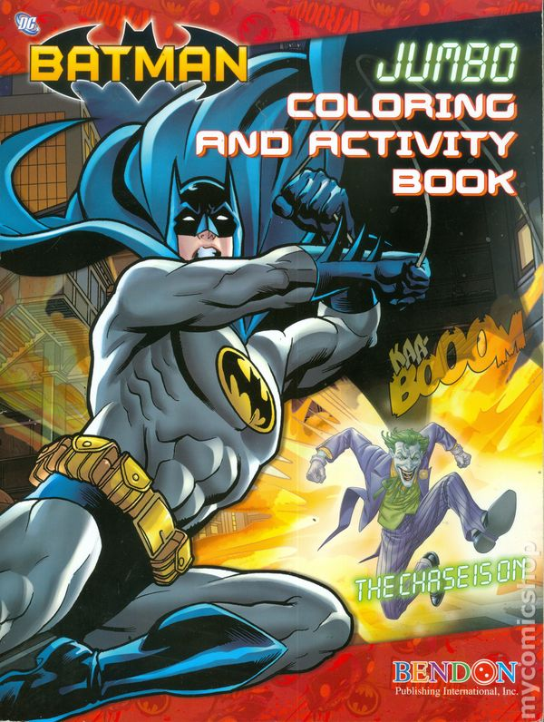 Batman Jumbo Coloring and Activity Book (2012 Bendon Publishing ...