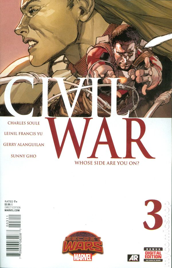 Civil War Secret Wars 1A Yu Variant VF 2015 Stock Image