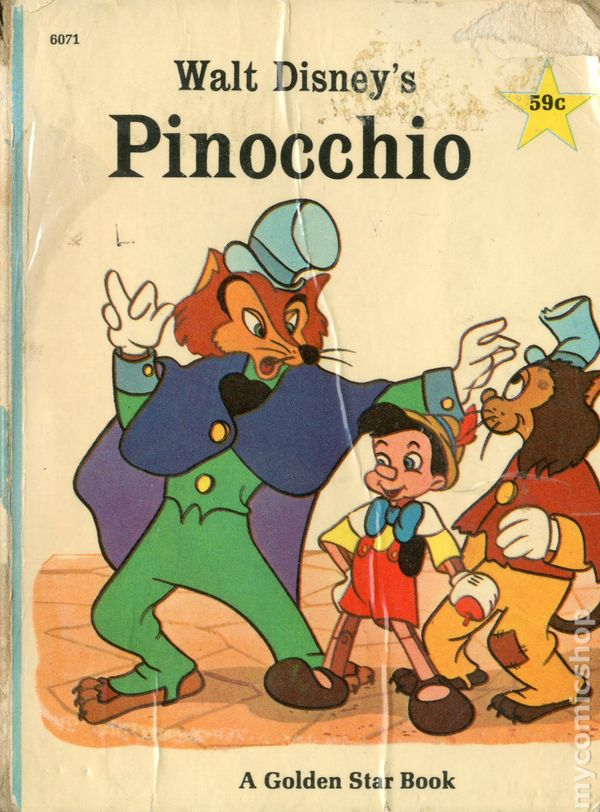 pinocchio a golden star book 1967 golden star library comic books