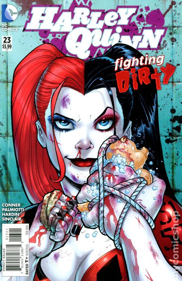 Harley quinn comic art
