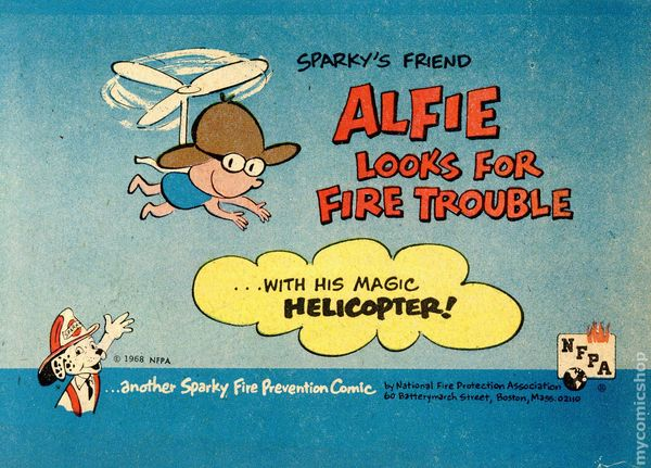 Sparkys Friend Alfie Looks For Fire Trouble 1968 NFPA 1