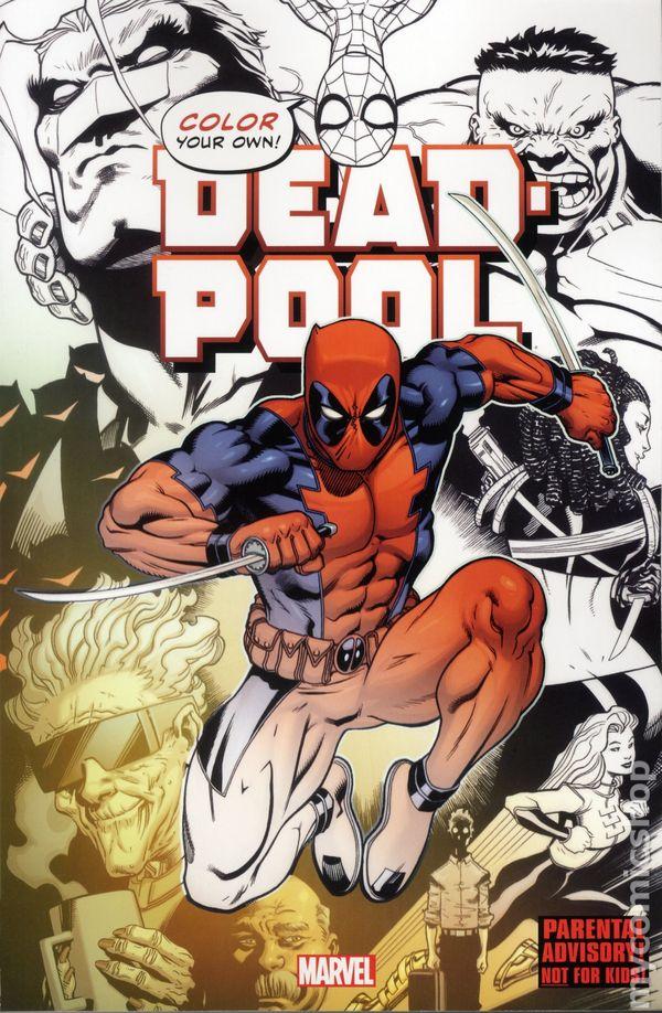 Color Your Own Deadpool SC (2016 Marvel) comic books