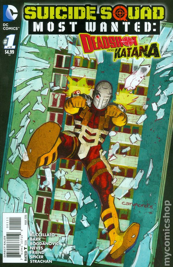 Comic Book Cover Artist Wanted : Suicide squad most wanted deadshot katana comic books