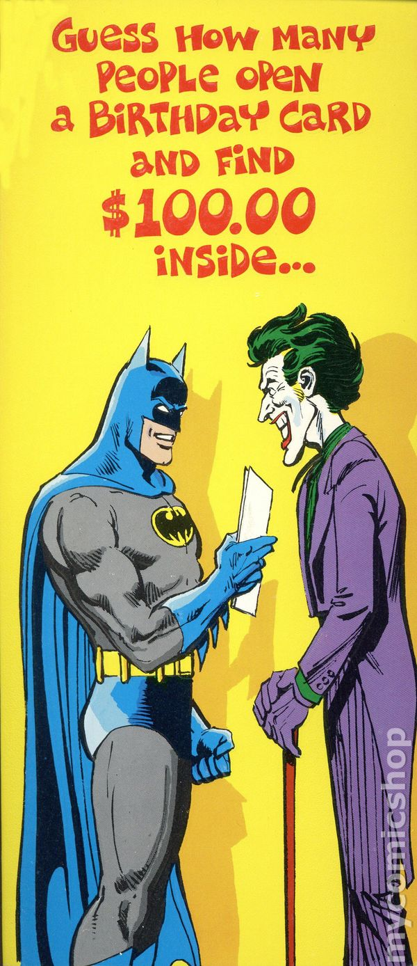 Dc Comics Greeting Card 1978 Dc Comics Comic Books