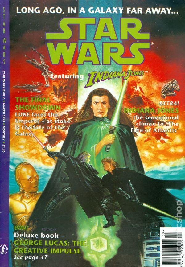 Star Wars Featuring Indiana Jones #1 2 Trading Cards Dark Horse Comics Oct 1992