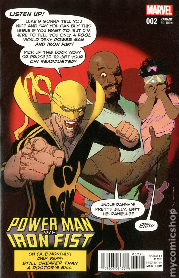 Power Man And Iron Fist 2016 Marvel 2B