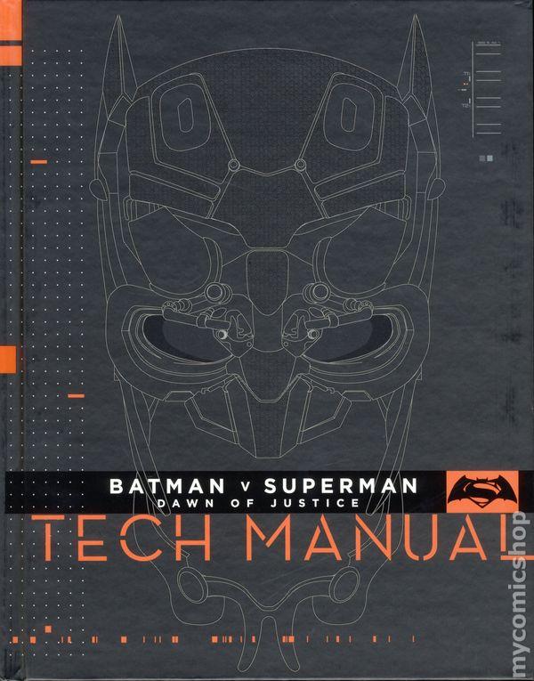 batman v superman dawn of justice tech manual hc 2016 titan rh mycomicshop com Tech Comments tech manual onan twin cylinder