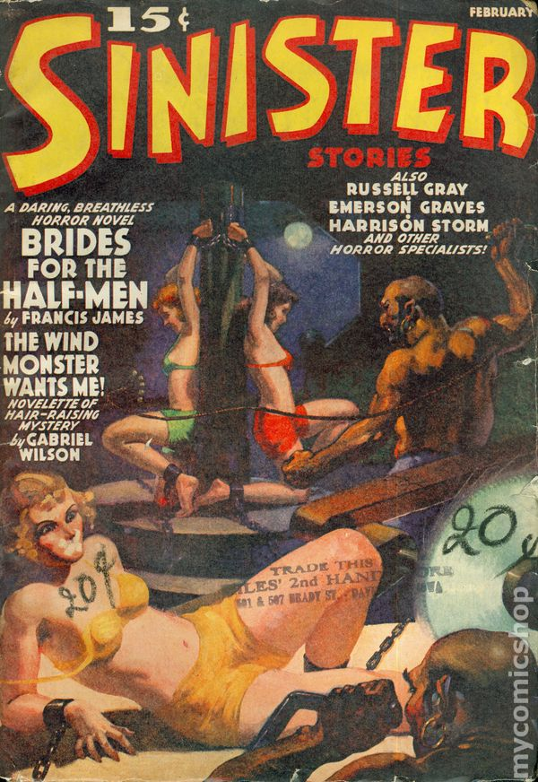 Sinister Stories 1940 Pulp Vol 1