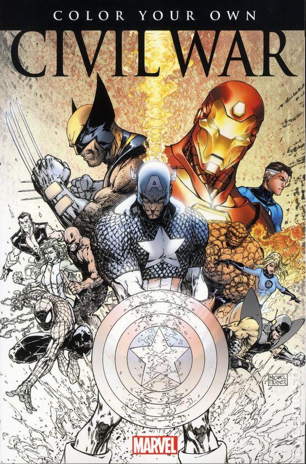 Color Your Own Civil War SC 2016 Marvel 1 1ST
