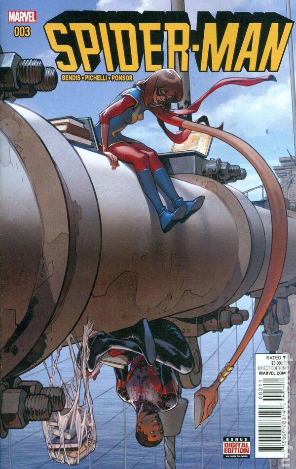 Spider-Man #10 1:10 Pasqual Ferry STEAM Variant ANAD Marvel 2016