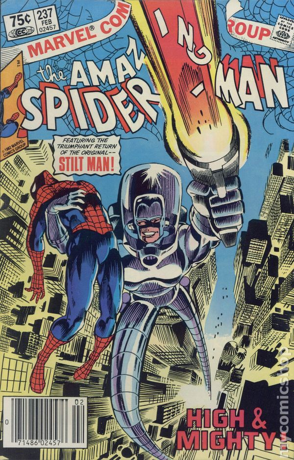 amazing spider man comic books published by marvel 1980 1989
