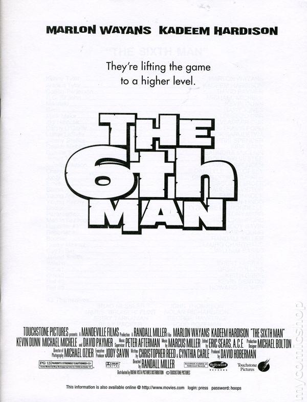 6th Man Media Press Kit 1997 Touchstone Comic Books