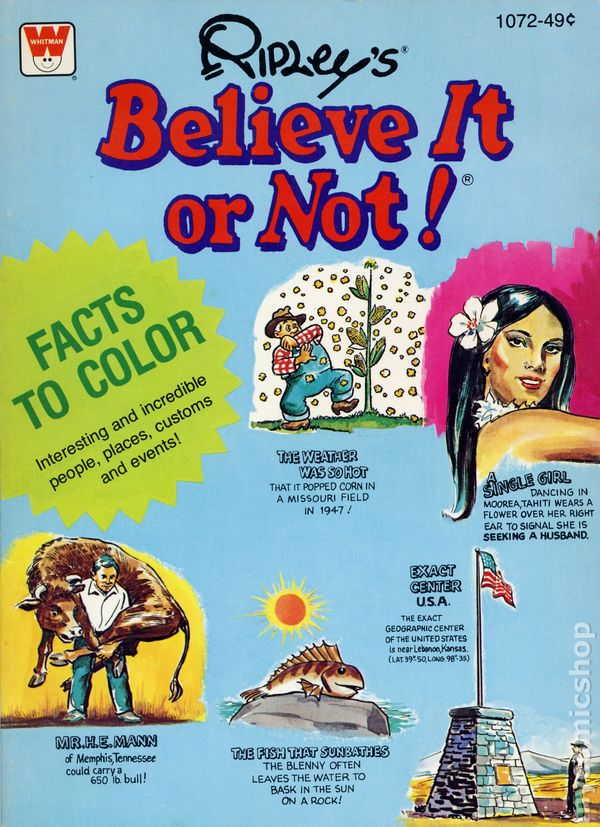 Ripley\'s Believe It Or Not Coloring Book SC (1979 Whitman) comic books