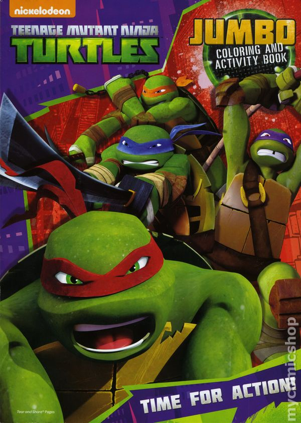 Teenage Mutant Ninja Turtles Jumbo Coloring and Activity Book SC ...