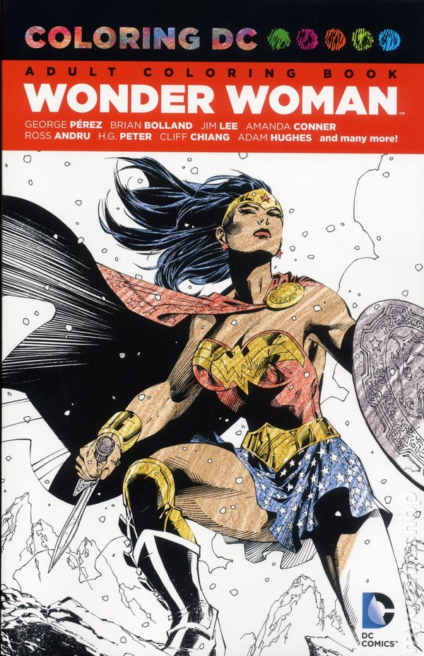 coloring dc wonder woman sc 2016 dc adult coloring book 1 1st