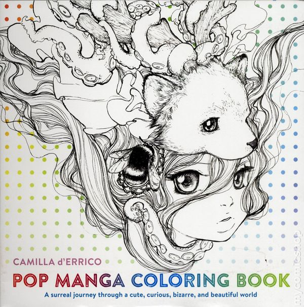 Pop Manga Coloring Book SC 2016 Watson Guptill 1 1ST