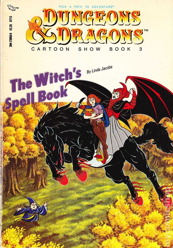 Dungeons And Dragons Cartoon Show Book Sc 1985 Tsr Pick