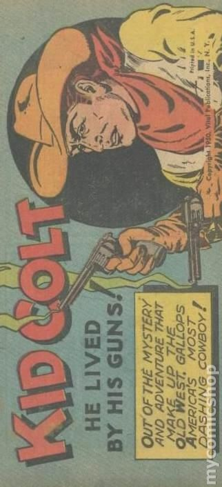 Kid Colt In He Lived By His Guns 1950 Mini Comic Comic Books