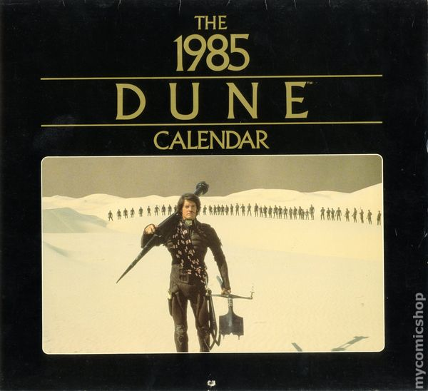 1985 Calendar.Dune 1985 Calendar 1984 Perigee Books Comic Books
