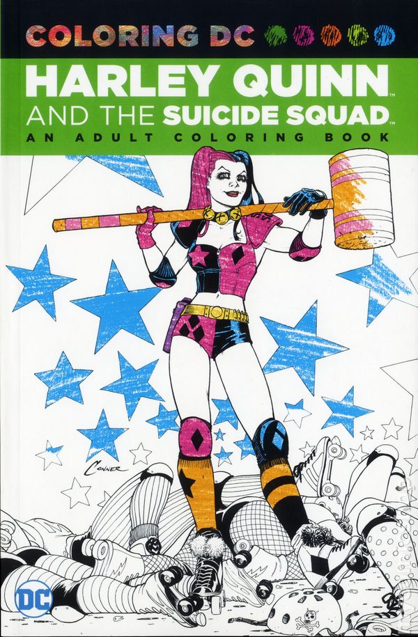 coloring dc harley quinn and suicide squad sc 2016 dc an adult coloring book