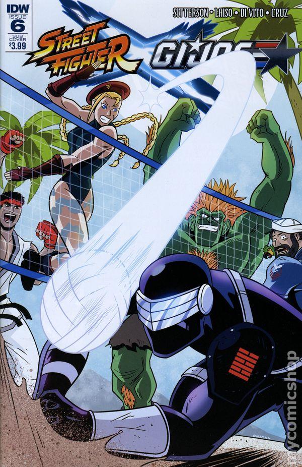 2016 IDW Comics STREET FIGHTER X GI JOE #1 of 6 Blank Sketch Variant Cover