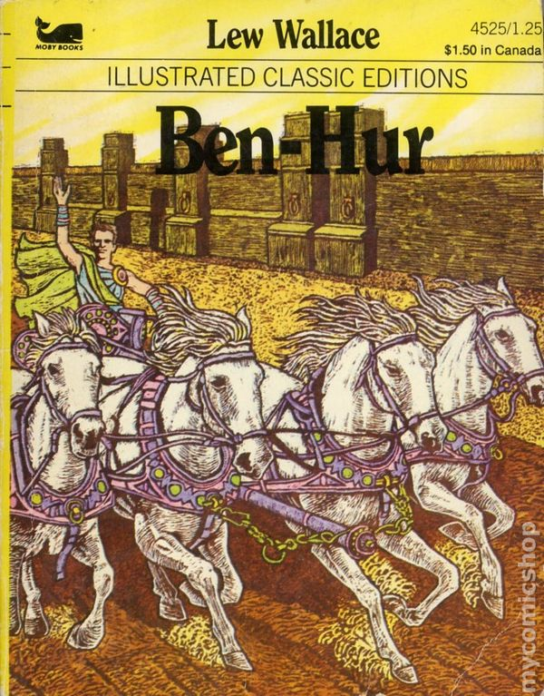 Illustrated Classic Editions Ben Hur Pb 1983 Moby Books By Lew