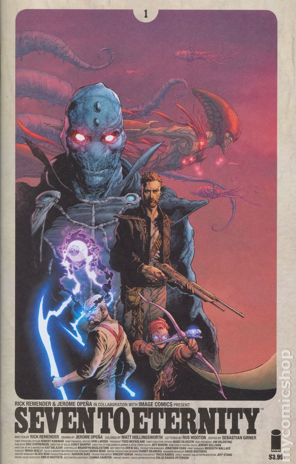 SEVEN TO ETERNITY #6 CVR C /& D SPAWN COLOR B/&W VARIANT 2017 IMAGE NM