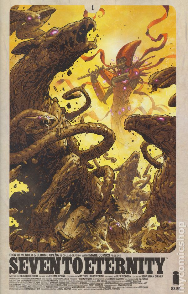 Image Seven to Eternity #1 Sold Out 1st Print CGC 9.8 Rick Remender Jerome Opena