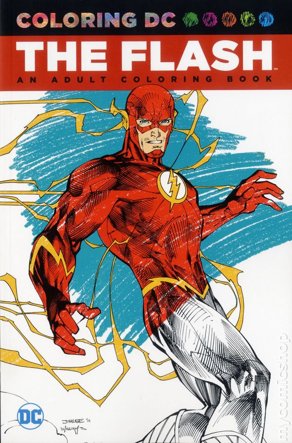 Coloring DC Flash SC 2016 An Adult Book 1 1ST