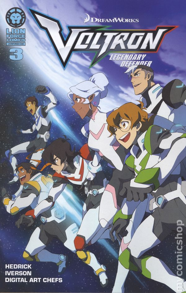 Voltron Legendary Defender 2016 Lion Fe ic books