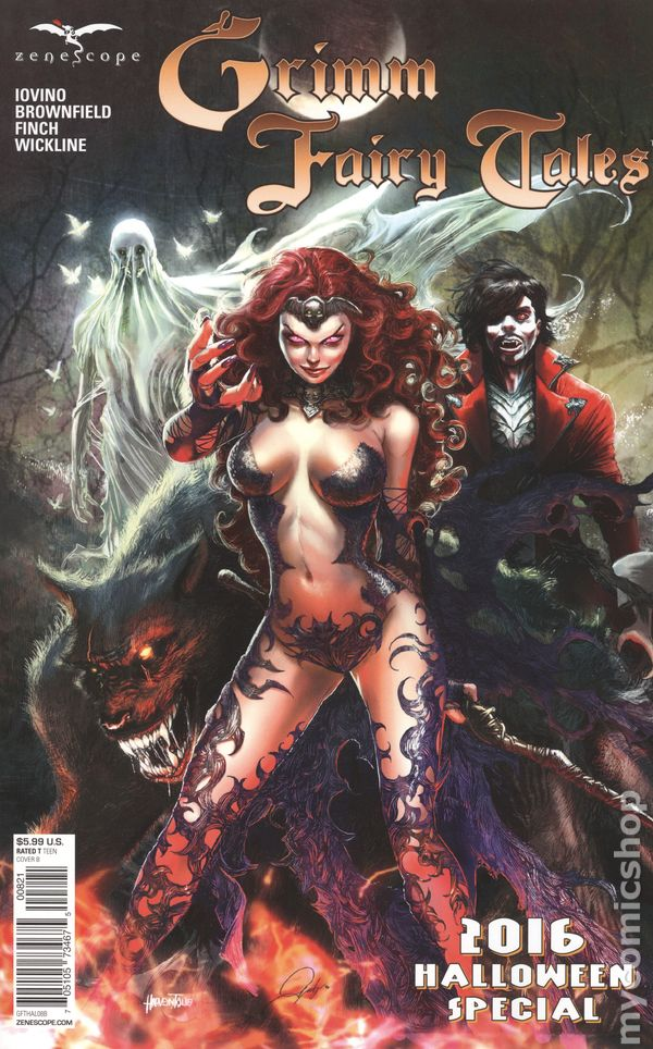 SANAPO A-variant Zenescope NM GRIMM FAIRY TALES 2016 PHOTOSHOOT EDITION