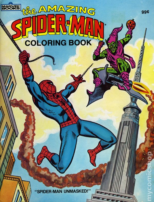 amazing spider man coloring book sc 1983 marvel books comic books