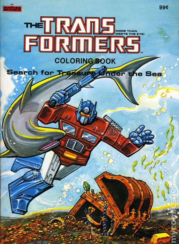 Transformers Coloring Book SC (1984 Marvel Books) 1-1ST VF