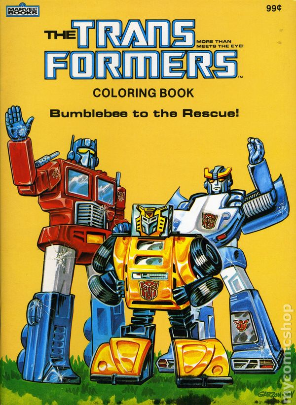 Transformers Coloring Book SC (1984 Marvel Books) Comic Books