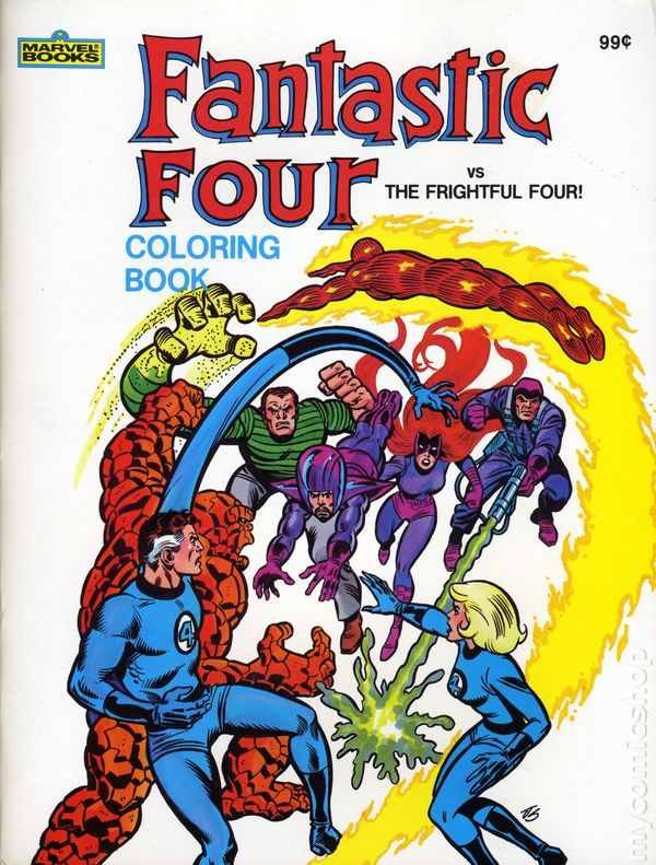 Fantastic Four Fantastic Four vs. the Frightful Four Coloring Book ...