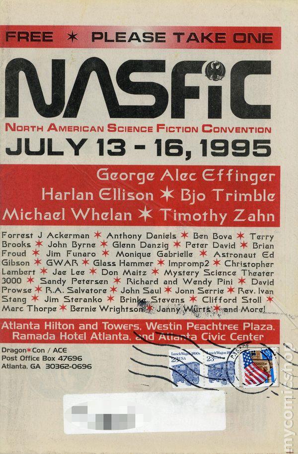 Nasfic Convention Program 1975 1995 Comic books