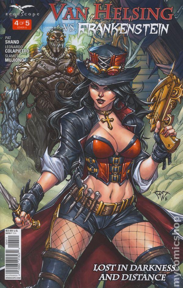 Van Helsing Vs Frankenstein #4 ~ Zenescope comic 4B cover