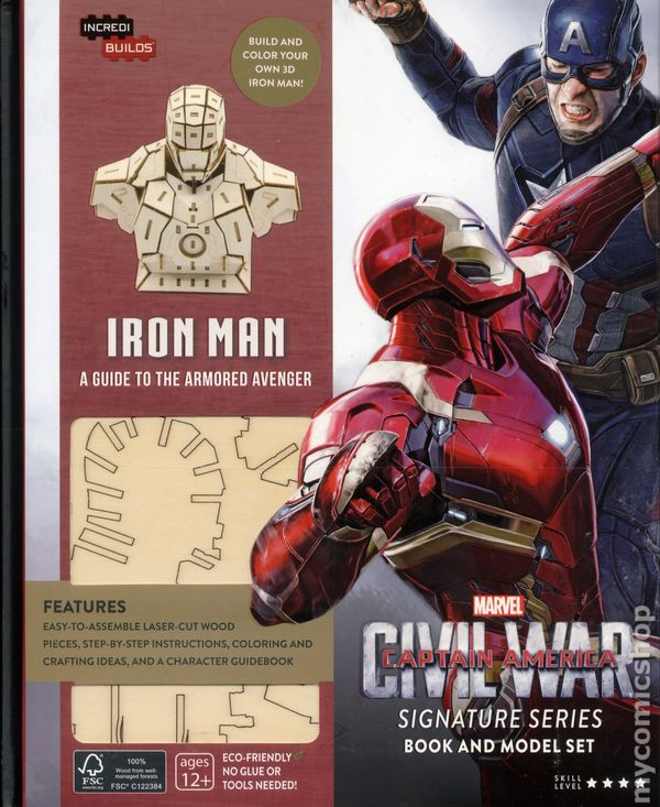 IncrediBuilds Marvel Captain America Civil War 2016 Insight Editions Deluxe Book And Model