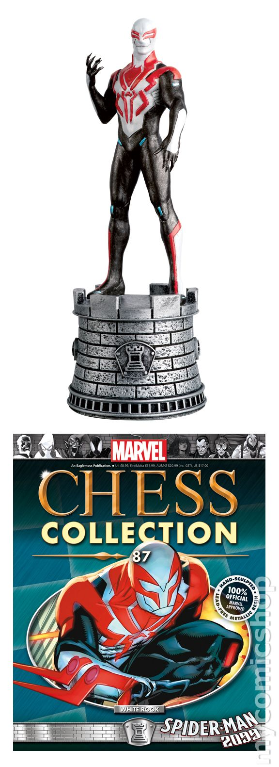 MARVEL THE CHESS COLLECTION ISSUE 92 MYSTERIO EAGLEMOSS FIGURINE FIGURE