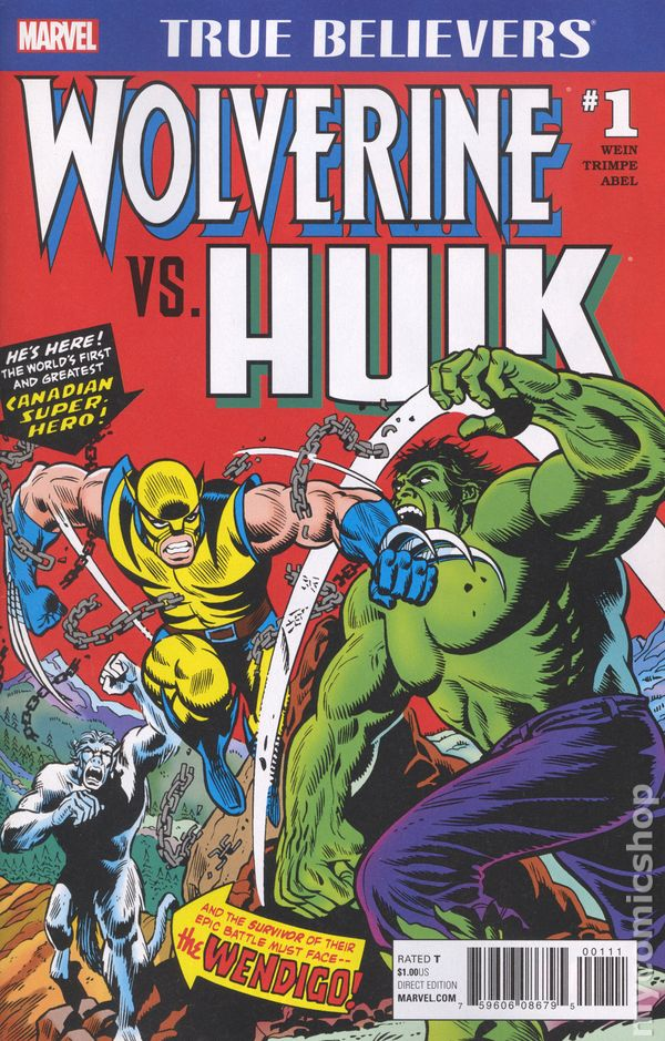 True Believers Wolverine Vs Hulk 2017 1