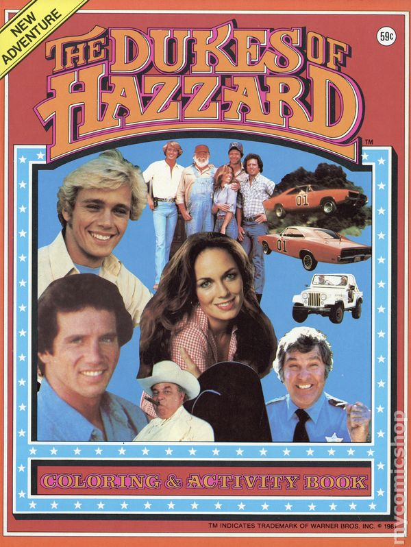 Dukes of Hazzard Coloring and Activity Book (1981 Warner Brothers ...
