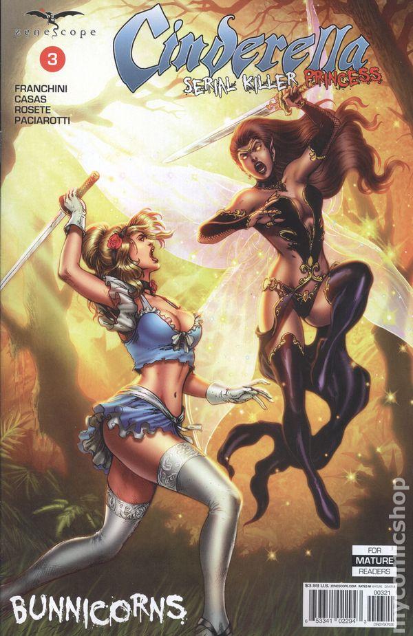 ~ Zenescope comic 4C cover Serial Killer Princess #4 Cinderella