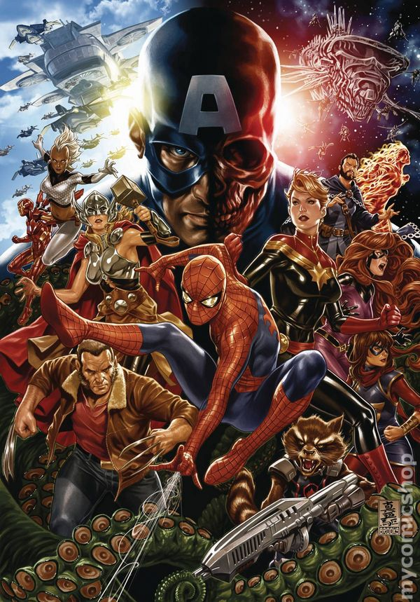 Secret empire poster 2017 marvel comic books - Marvel spiderman comics pdf ...