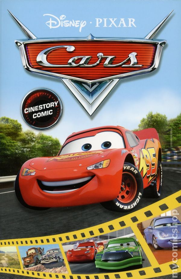 cars cinestory comic gn 2017 joe books disneypixar comic books