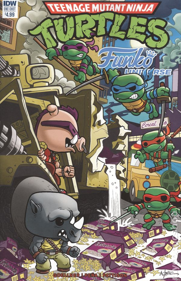 Teenage Mutant Ninja Turtles Funko Universe 2017 IDW 1A