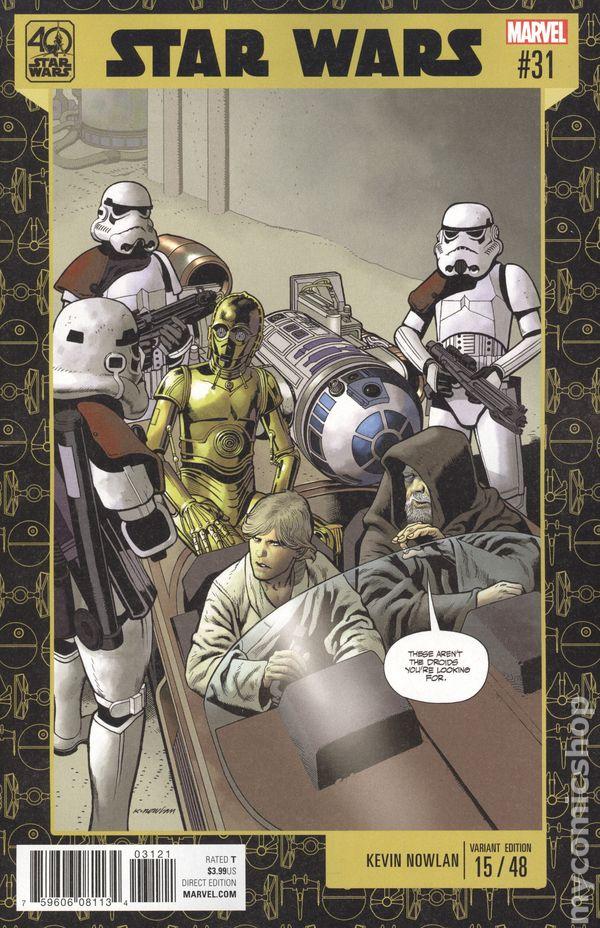 Star Wars #31A Checchetto Variant VF 2017 Stock Image