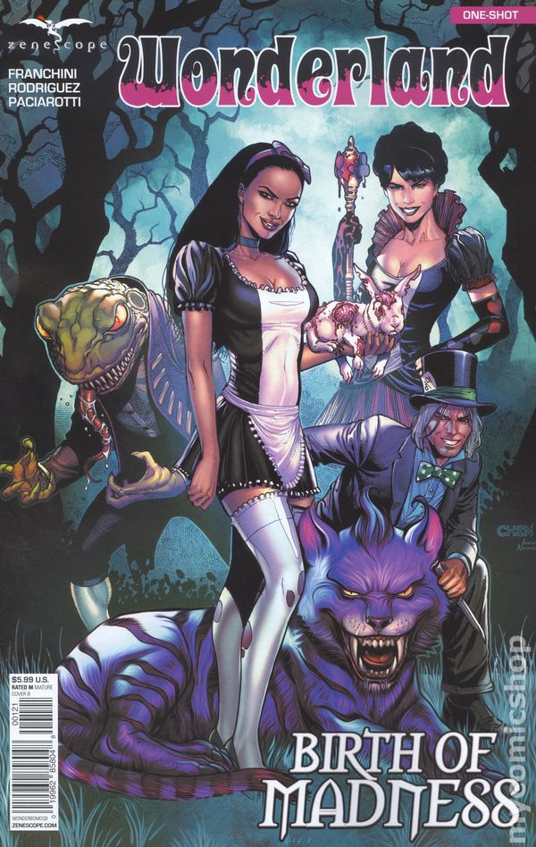 Wonderland Birth of Madness (2017 Zenescope) comic books