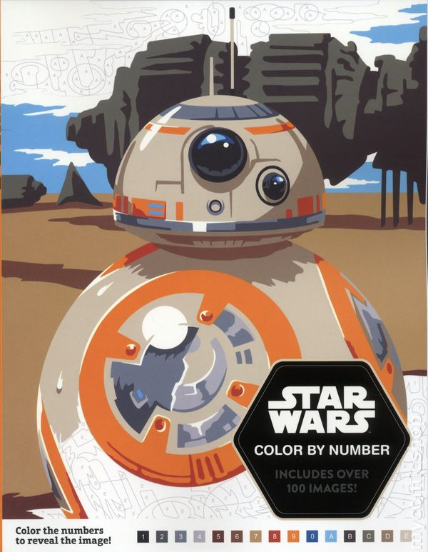 Star Wars Color by Numbers SC (2017 Disney/LucasFilm) comic books