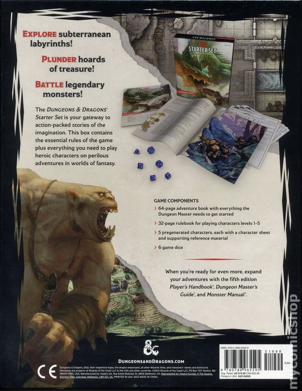 Dungeons and Dragons Starter Set (2014 Wizards of the Coast) 5th Edition  ITEM#1 NM