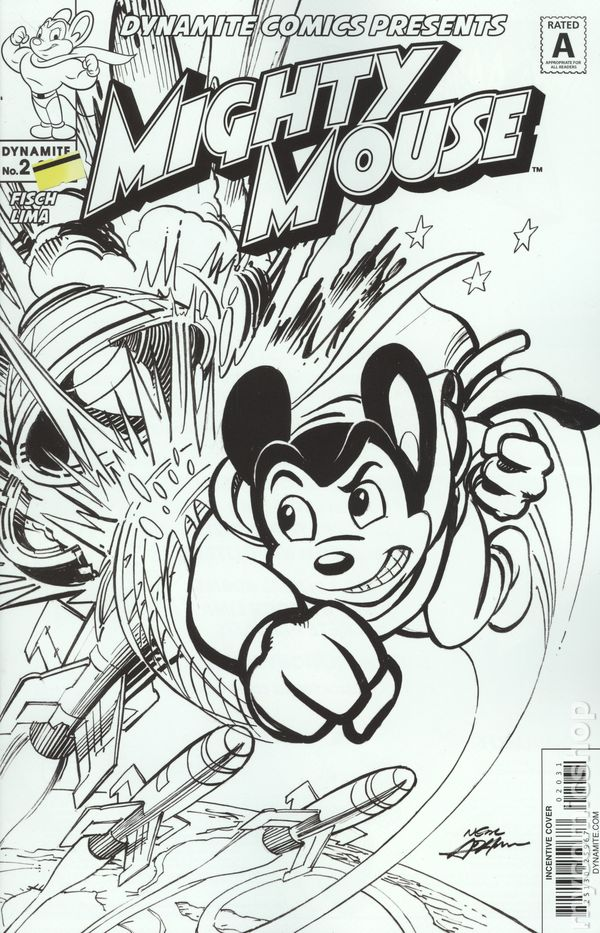 Mighty Mouse Coloring Pages L0 | 933x600